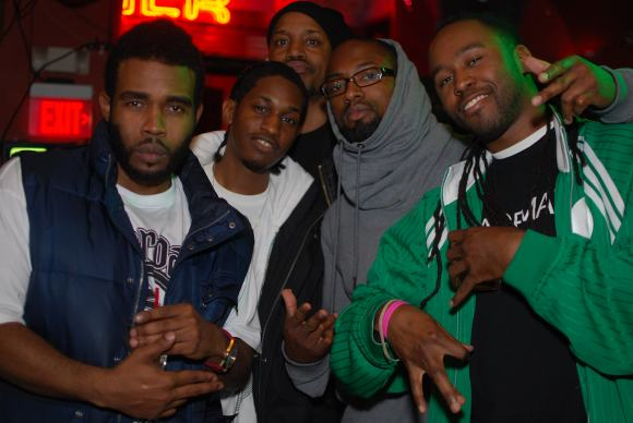 Pharaoh Monch, Has-Lo, DJ Boogie Blind, Hezekiah, and Icon The Mic King Photo by Michael Béon aka King Red Rose